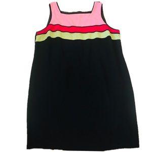 Color Block Vintage Plus Size Mini Dress